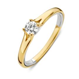 Excellent Jewelry Bicolor Fantasie Ring met Diamant
