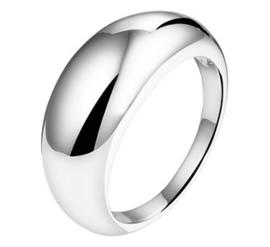 Basic Bolle Ring van Gerhodineerd Zilver