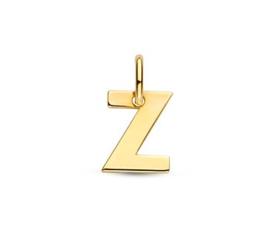 Letter Z Hanger in massief 14 Karaat Goud