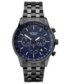 Sekonda Heren Chronograaf Horloge met Donkerblauwe Wijzerplaat