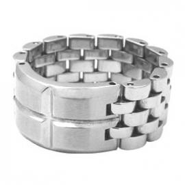 Fantasie Ring met Schakels van C MY STEEL