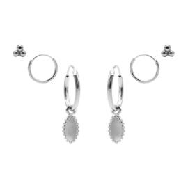 Karma Jewelry – Zesdelige Dotty Delight Earparty Set - Zilver