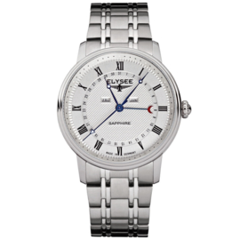 Zilverkleurig Monumentum Calendar Heren Horloge van Elysee