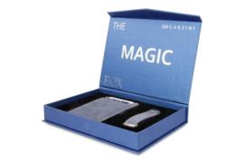 Garzini Gift Box met Saffierblauwe Magic Wallet en Sleutelhanger