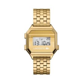 Lacoste Goudkleurig Berlin Horloge met Digitale Tijdweergave