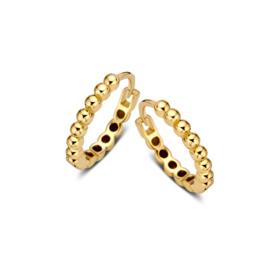 Excellent Jewelry Geelgouden Bolletjes Creolen