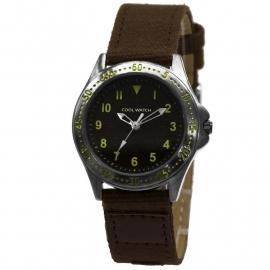 Cool Wacht CW.257 Jongens Horloge Bolk Bruin Canvas