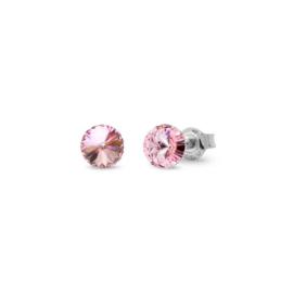 Spark Small Candy Oorknoppen met Roze Glaskristal