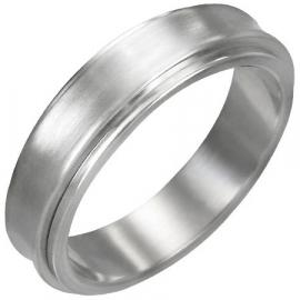 Ring - Geborsteld staal - Graveer Ring SKU67