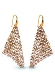 Goudkleurige Swarovski Oorhangers van Spark Jewelry