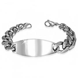 Robuuste Sierlijke Graveer-armband