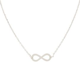 Super Stylish Opengewerkte Infinity Hanger Ketting van Zilver