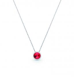Tiny Bonbon Rode Swarovski Ketting van Spark Jewelry
