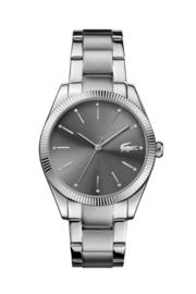 Lacoste Parisienne Zilverkleurig Dames Horloge met Edelstalen Schakelband