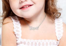 Names4ever Brenda Stijl Zilveren Naamketting voor Kids ZNK39