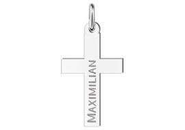 Names4ever Zilveren Kruishanger met Naam