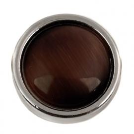 Bruine drukknoop voor drukknoop-armband BEC0079-18
