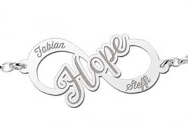 Names4ever Hope Infinity Armband van Zilver