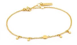 Ania Haie Geometry Drop Discs Goudkleurige Armband voor Dames
