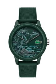 Lacoste Donkergroen Heren Horloge met Silicone Horlogeband