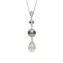 Spark Primadonna Ketting met Witte Glaskristallen