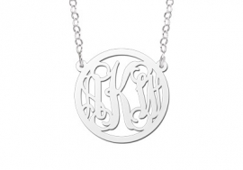 Names4ever Medium Monogram Hanger + Ketting ZMH014