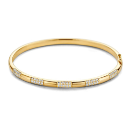 Excellent Jewelry Geelgouden Bangle Armband met 0,72 crt. Briljanten