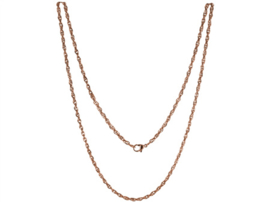 LOCKits Roségoudkleurig Edelstalen Twist Collier 80cm