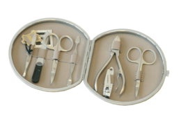 Ronde Taupe Chrome Manicure Set