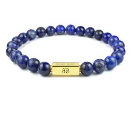 Gold Premium   Lapis Lazuli Kralen Armband van Blaauw Bloed
