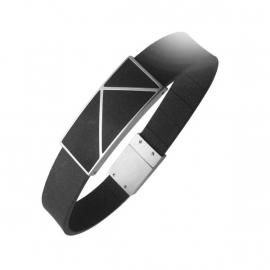 Zwart Rubberen Armband van C MY STEEL