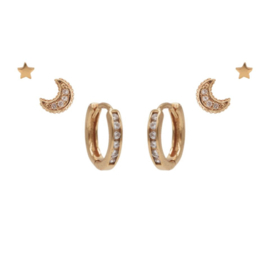 Karma Jewelry – Zesdelige IMy Moon & Stars Earparty Set - Rosé