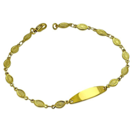 Fashion Goudkleurige Graveer Armband voor Dames