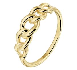 Gouden Ring met Gourmet Schakels | 14 Karaats Goud