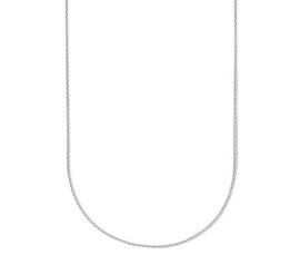 Zilveren Collier Anker gediamanteerd 1,1 mm 50 cm