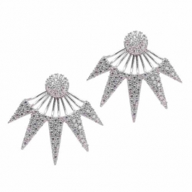 Keira Ear Jackets in écht zilver