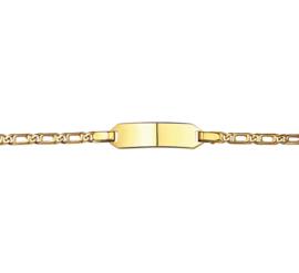 Kinderarmband van Massief Goud Valkenoog plaat 5,2 mm | 13 – 15  cm