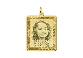 Kleine Rechthoekige Gouden Fotogravure Hanger van Names4ever