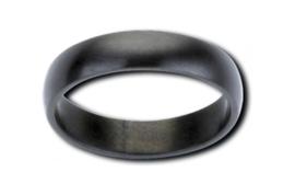 Zwarte Gematteerde Ring van Edelstaal van M&M