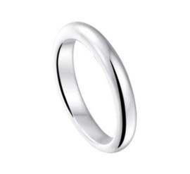 Bolle Egaal Gepolijste Ring van Gerhodineerd Zilver