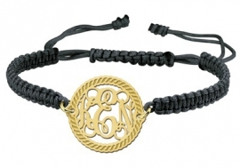 Gouden Motion Monogram Armband GNA08 > Names4ever
