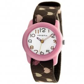 Prisma Horloge P.1313 Kids Rosa Hartjes