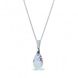 Druppel Wit Swarovski Ketting van Spark Jewelry