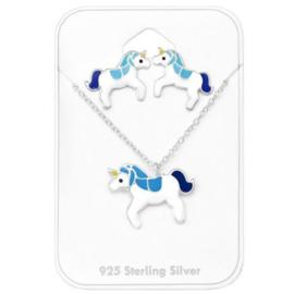 Blauw Gekleurd Unicorn / Eenhoorn Setje voor Kids