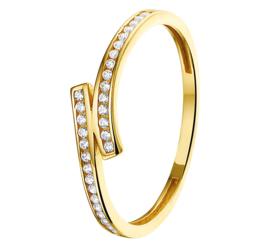 Gouden Dames Ring / Ringmaat 18,5