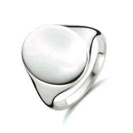 Zilveren Ovalen Graveer Ring voor Dames | Ring met initialen