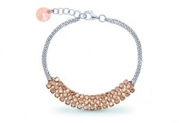 Stylish Goudkleurige Swarovski Armband van Spark Jewelry