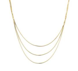 Goudkleurige Collier Slang 0,8 mm  41 + 4 cm