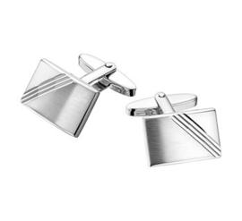 Rechthoekige Matte met Gepolijste Manchetknopen van Zilver