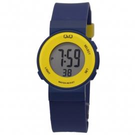 Q&Q digitaal horloge met blauw kunststof horlogeband